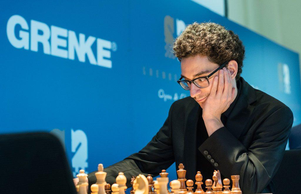 VM-RIVAL: Fabiano Caruana virker skummel å hanskes med for tiden. Nå leder han Grenke Chess Classic to runder før slutt. Foto: Maria Emelianova