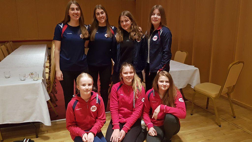 De norske deltakerne i Nordisk mesterskap for jenter. Foto: Tatiana Martynova