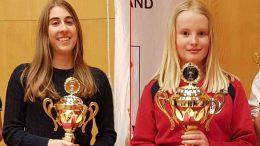 De to glade nordiske mesterne Hanna B. Kyrkjebø og Amelia Nordquelle. Foto: skak.is
