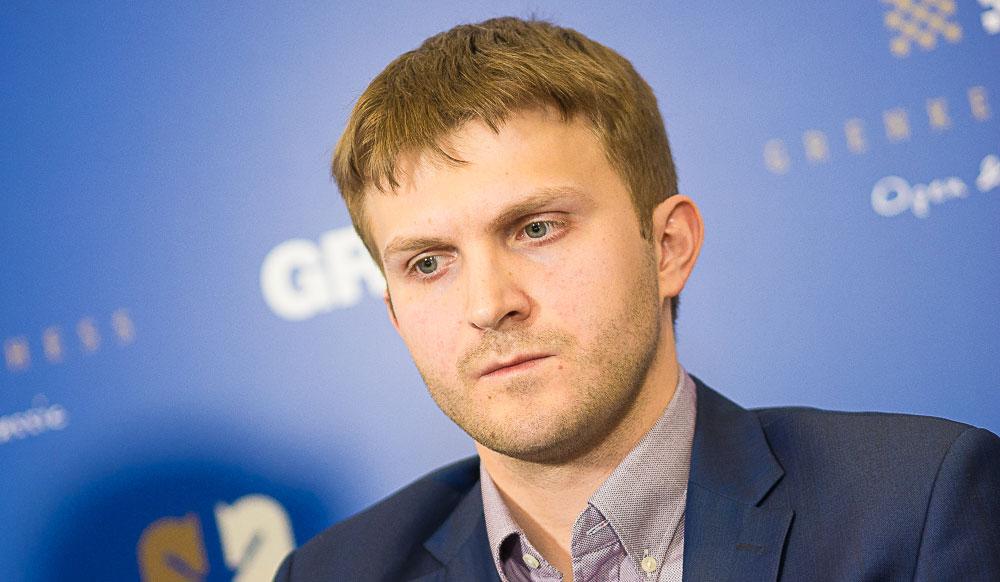 LEDER: Nikita Vitiugov, Russland, med 2 av 2 poeng. Foto: Eric van Reem