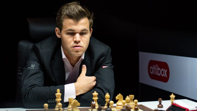 Magnus Carlsen i Norway Chess. Foto: Maria Emelianova