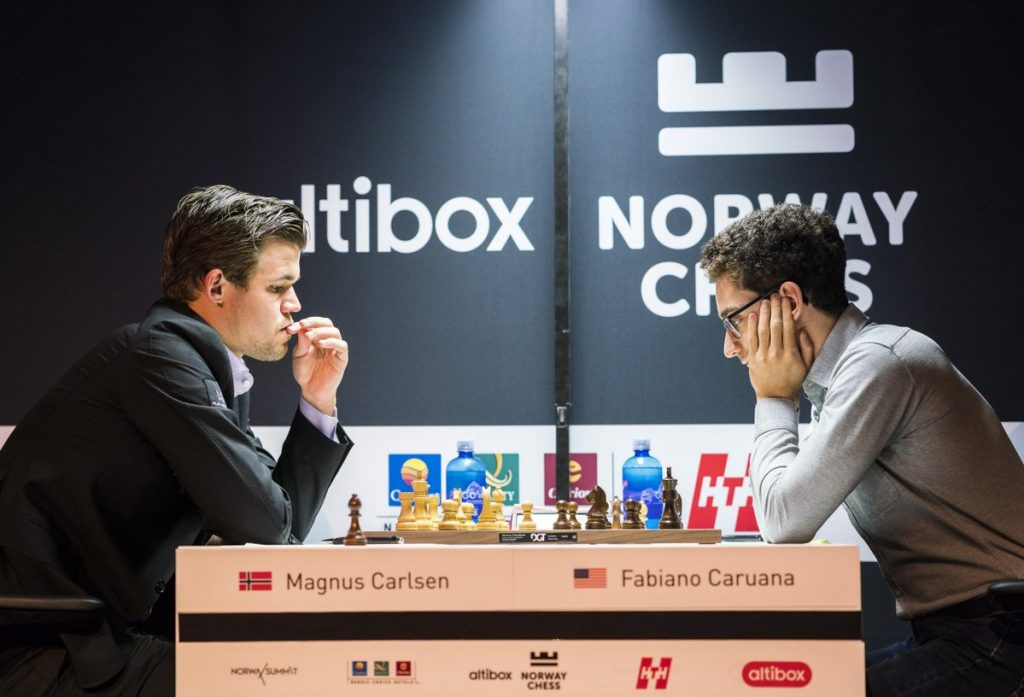 Magnus Carlsen scored his 10th win against Fabiano Caruana in what may be their last meeting before London in November. Photo: Lennart Ootes