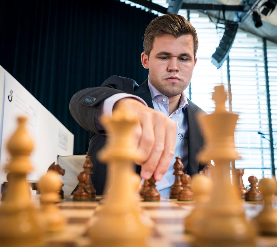 Kan Magnus Carlsen gå til topps i Biel for tredje gang? Foto: Lennart Ootes/Biel International Chess Festival