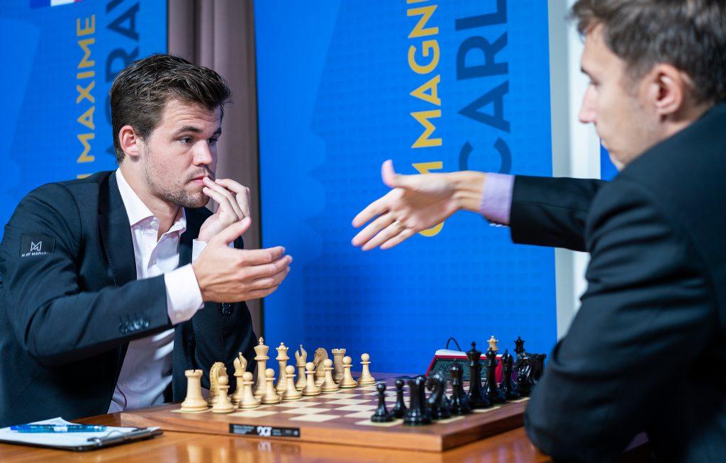 Magnus Carlsen slo Sergey Karjakin i det 41. innbyrdes oppgjøret. Foto: Lennart Ootes