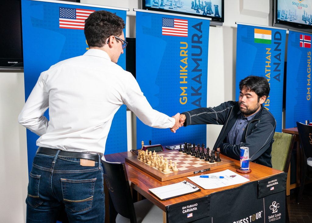 Hikaru Nakamura had a disappointing event in St. Louis and was defeated by his compatriot Fabiano Caruana in round 4. Photo: Lennart Ootes/Grand Chess Tour