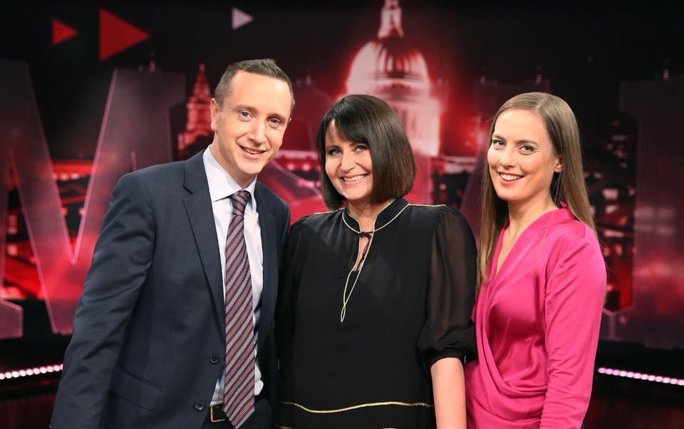 NRKs faste trio: Torstein Bae, Line Andersen og Heidi Røneid. Foto: NRK
