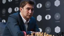 Sergey Karjakin leder Kandidatturneringen. Foto: WORLD CHESS Press Office; Evgeny Pogonin
