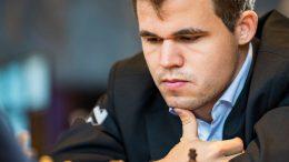 Magnus Carlsen i lynsjakken i dag. Foto: Lennart Ootes/Grand Chess Tour