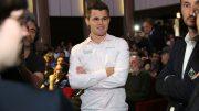 Magnus Carlsen i rute før andre dag av Paris GCT. Foto: Spectrum Studios