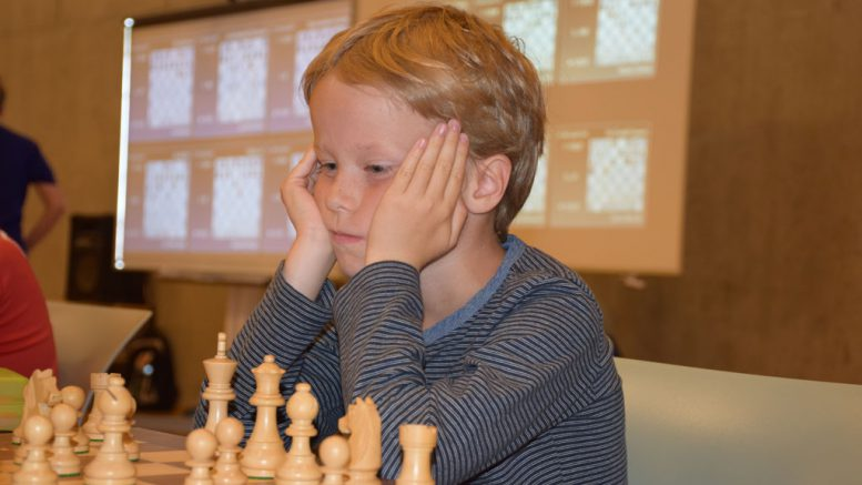 Aksel Bu Kvaløy herjer i Miniputt. Foto: Tarjei J. Svensen