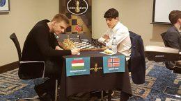 Richard Rapport beat Norwegian youngster Aryan Tari in round 1. Photo: Siamak Tari