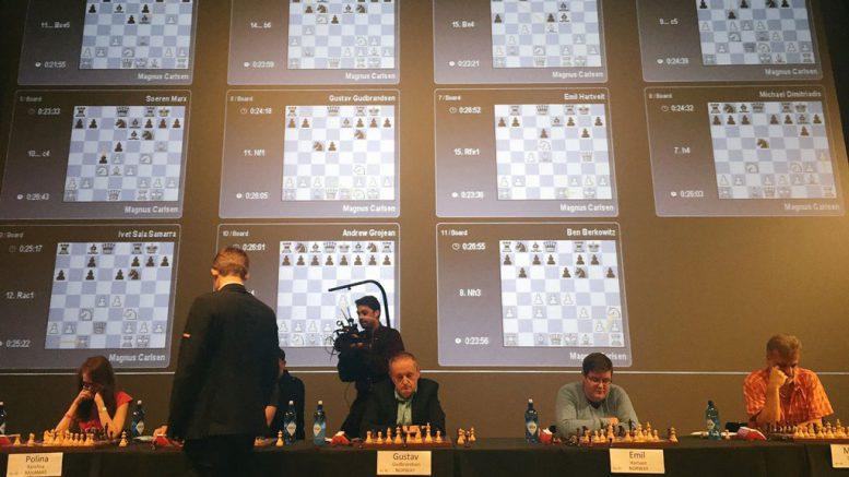 Magnus Carlsen herjet i New Jersey. Foto: PlayMagnus