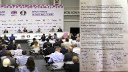 Flere lagkapteiner reagerer på den nye regelen. Her fra kapteinsmøtet tidligere i OL. Foto: Eteri Kubalshvili
