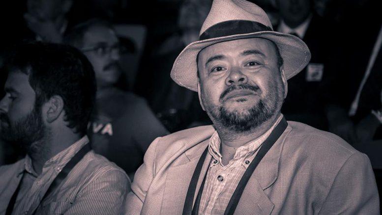 Jonathan Tisdall med Torbjørn R. Hansen i Baku. Foto: David Llada