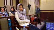 Wenjun Ju under åpningen av VM for kvinner i Iran. Foto: Reza Mahdipour