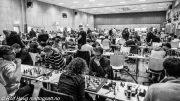Det ligger an til ny rekord i norsk sjakk. Her fra Landsturneringen i sommer. Foto: Rolf Haug/mattogpatt.no