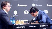 IMPONERER: Jon Ludvig Hammer med 50 prosent score etter fire runder i Moskva. Foto: Anastasiya Karlovich/FIDE