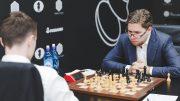 TRIUMF: Jon Ludvig Hammer tok endelig sin første seier i Grand Prix. Foto: Max Avdeev/Worldchess
