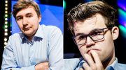 REAGERER: Sergey Karjakin mener Magnus Carlsen slapp billig unna lørdag. Foto: Lennart Ootes