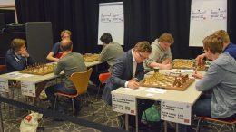 Fra andre runde i Eliteklassen lørdag. Foto: Øyvind Malin