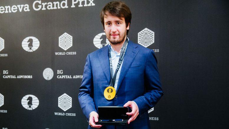 OVERRASKET: Teimour Radjabov overrasket ved å vinne i Geneve. Foto: Valera Belobeev/worldchess.com