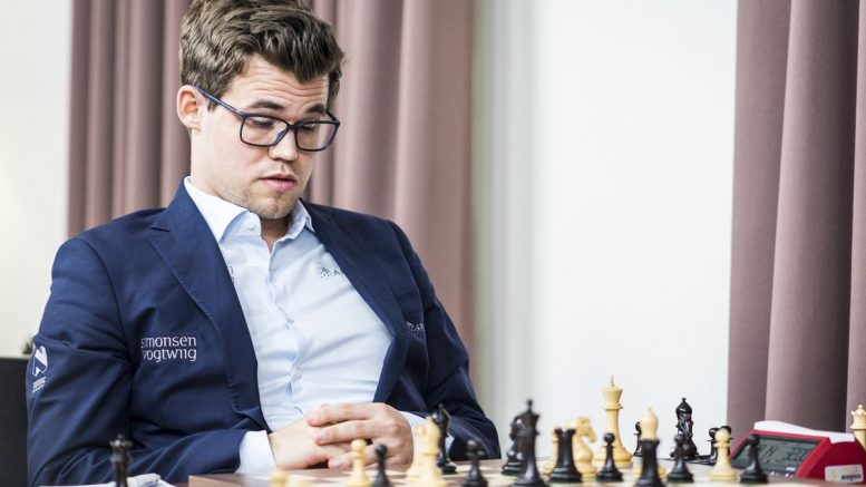 NOT HIS YEAR: Carlsen tries to digest his fateful blunder vs. Maxime Vachier-Lagrave. Photo: Lennart Ootes/Grand Chess Tour