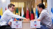 Carlsen is knocked out of the World Cup by agreeing to a draw in the second game. Photo: Maria Emelianova/chess.com