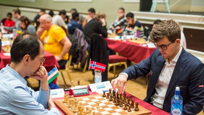 REMIS: Rustam Kasimdzhanov er tidligere verdensmester, nå sekundant for Fabiano Caruana. Foto: Maria Emelianova/chess.com