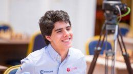 LEDER: Aryan Tari leder Junior-VM i Italia etter seks runder. Foto: Maria Emelianova/chess.com