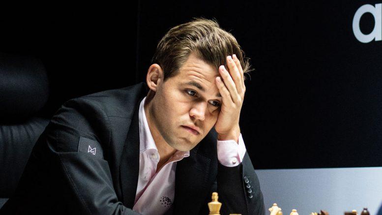 Magnus Carlsen i 8. runde av Norway Chess 2018. Foto: Maria Emelianova